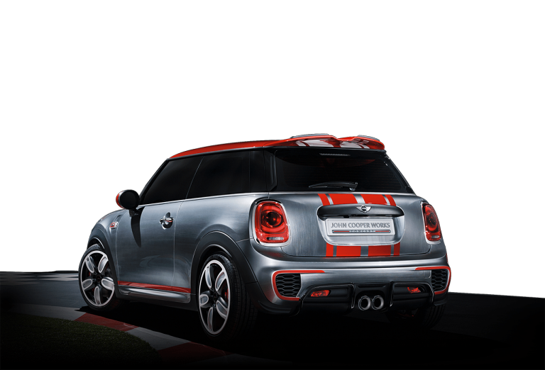 Perfil traseiro diagonal do MINI John Cooper Works Concept